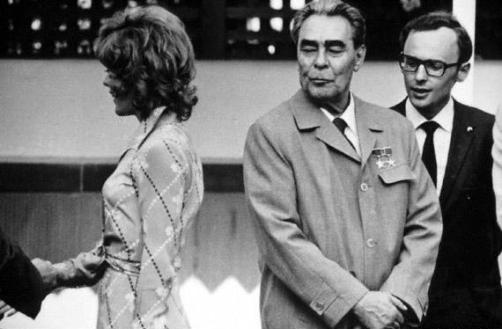 Леонид Брежнев и молоденькая американка