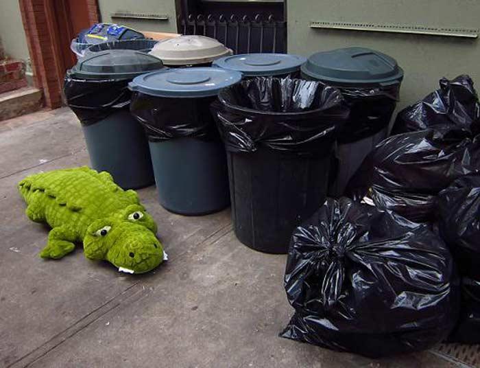 Выносить мусор после заката солнца — к сплетням