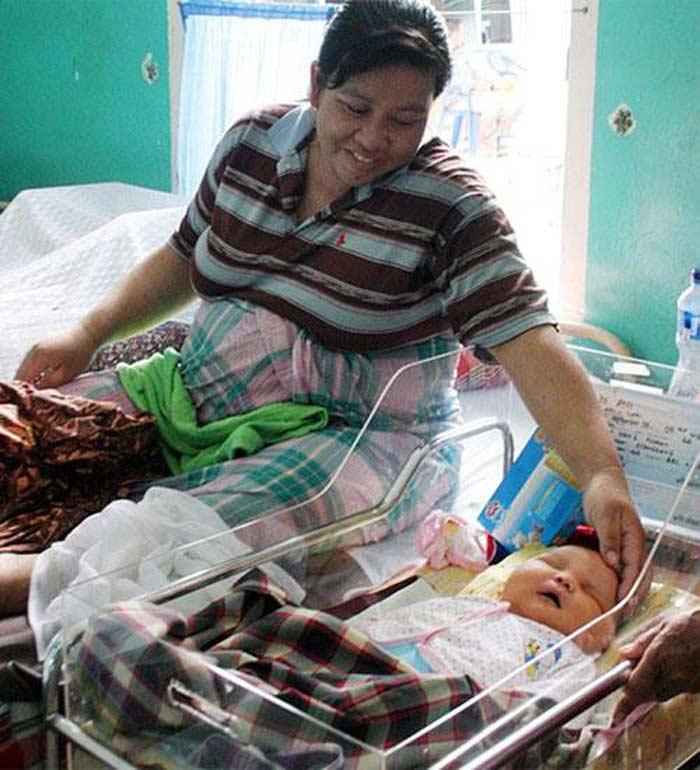Младенец 8,7 кг, Суматра