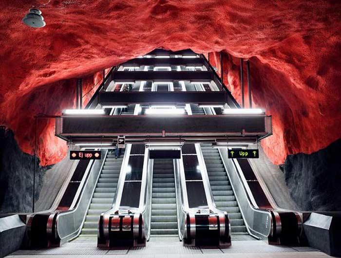 Станция метро  «Сольна», Стокгольм