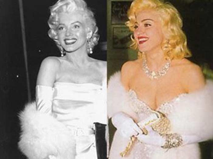 Мадонна в образе Мэрилин Монро