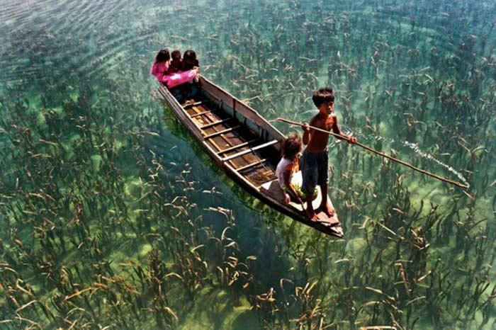 И снова озеро вСабахе, Малайзия