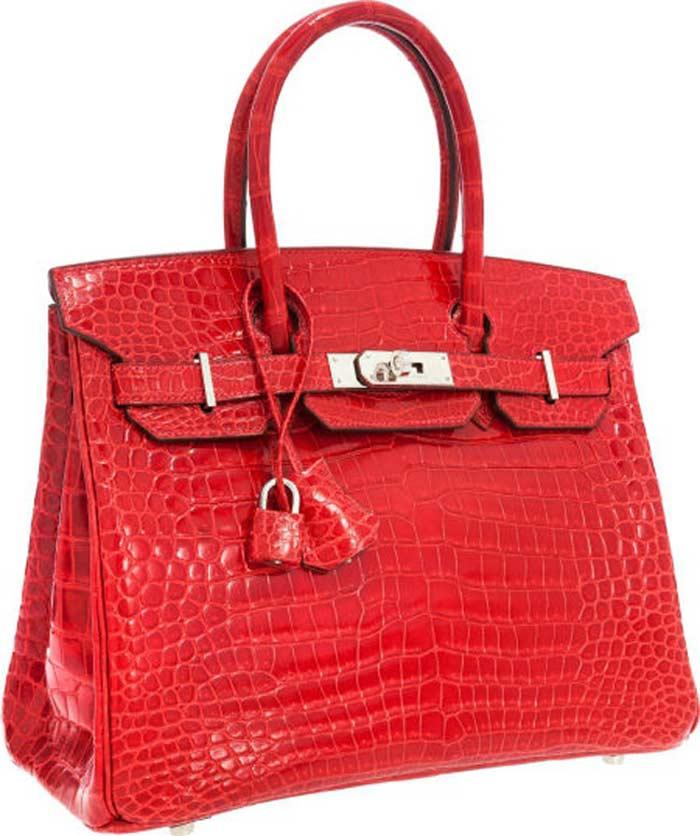 Shiny Braise Red Porоsus Crocоdile Birkin Bag дома Hermеs
