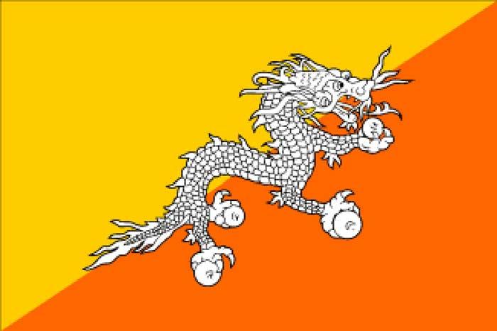 Флаг Бутан