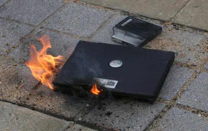 Топ 10 самых высокотехнологичных провалов. Взрыв ноутбука Dell