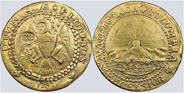 Монета Золотой дублон 1787 г.