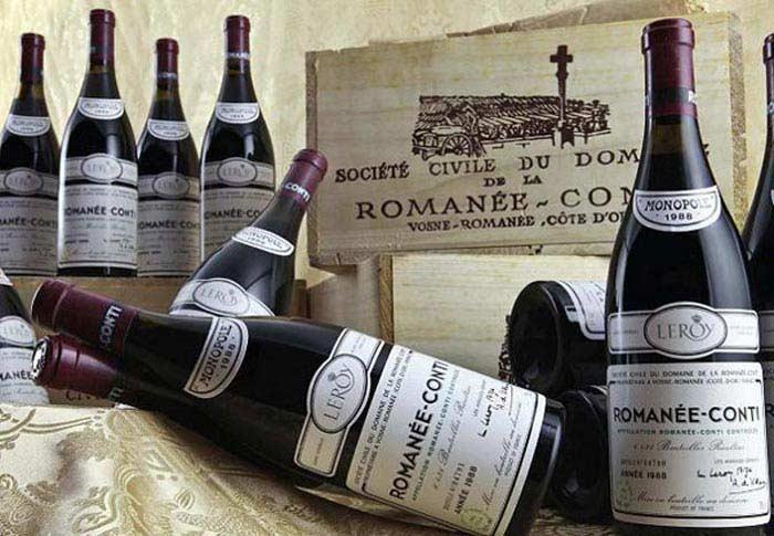 Вино Romanee Conti (цена - $123900)