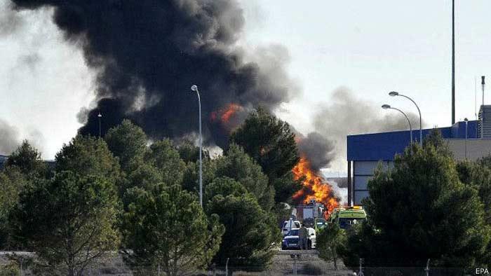 26 января, Испания, катастрофа с участием самолета греческих BBC