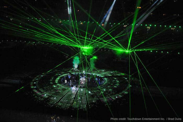 Крупнейшее лазерное шоу по количеству зрителей