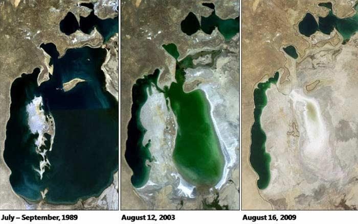 Аральское море мелеет