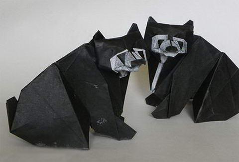 Оригами Мишки