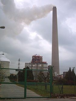 Дымовая труба электростанции Trbovlje Chimney