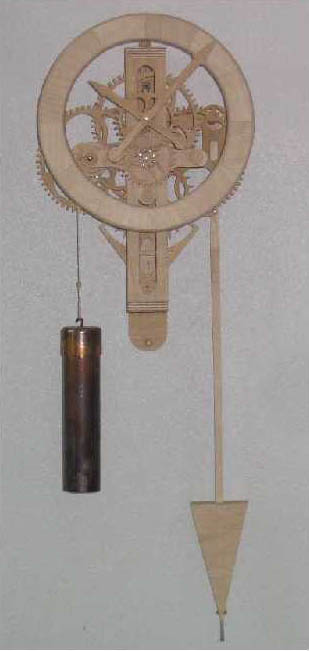Деревянные часы Vortex