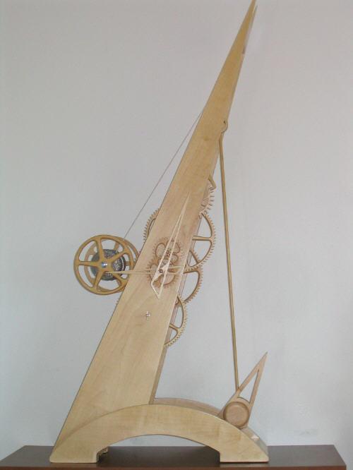 Деревянные часы Наклон