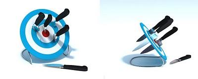 Подставка для ножей - мишень