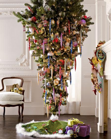 Новогодняя елка вверх ногами