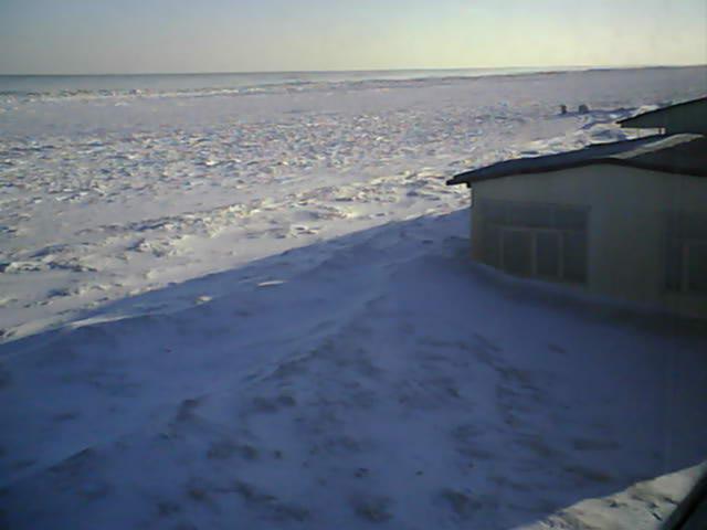 Азовское море полностью замёрзло