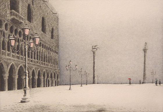 Замерзали реки Франции и каналы Венеции