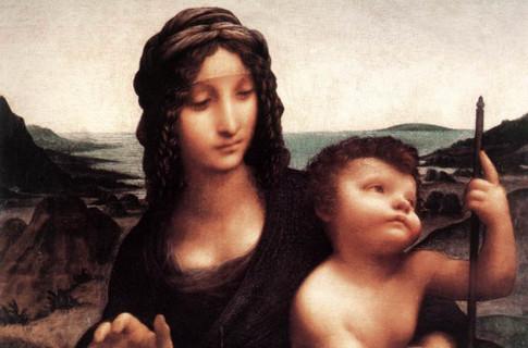 Леонардо да Винчи Мадонна с веретеном
