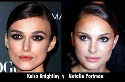 Кира Найтли похожа на Натали Портман