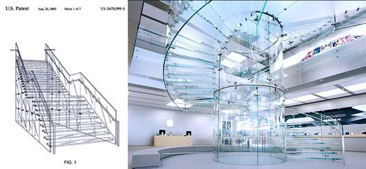 Лестница Apple Store