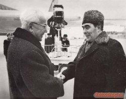 Леонид Брежнев и Николае Чаушеску
