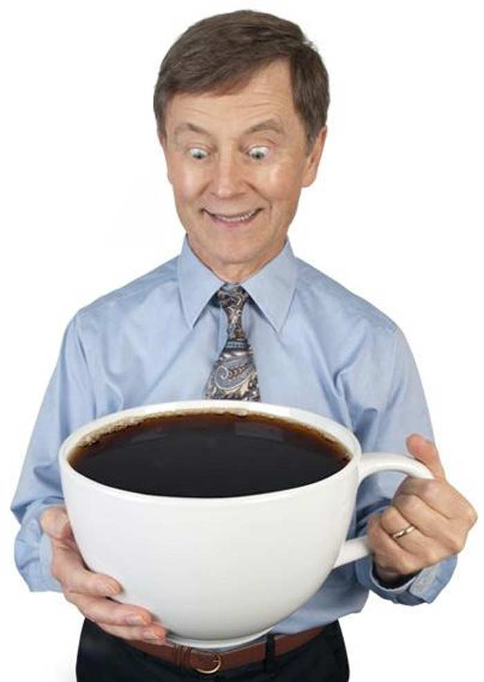 Большая чашка кофе смешные картинки