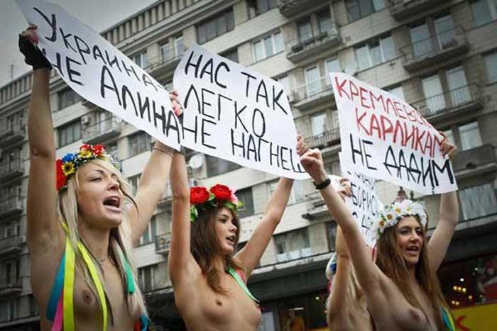 Топ 10 акций движения  Femen
