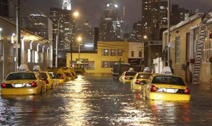 Ураган Сэнди. Вода в Нью-Йорке