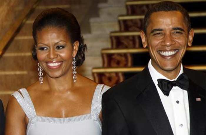 Барак Обама и Мишель Робинсон