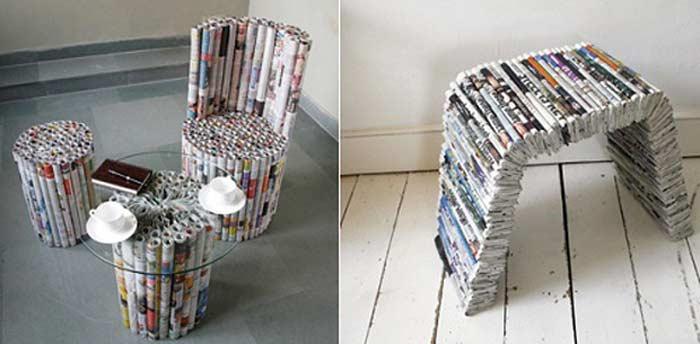 Мебель из Газеты