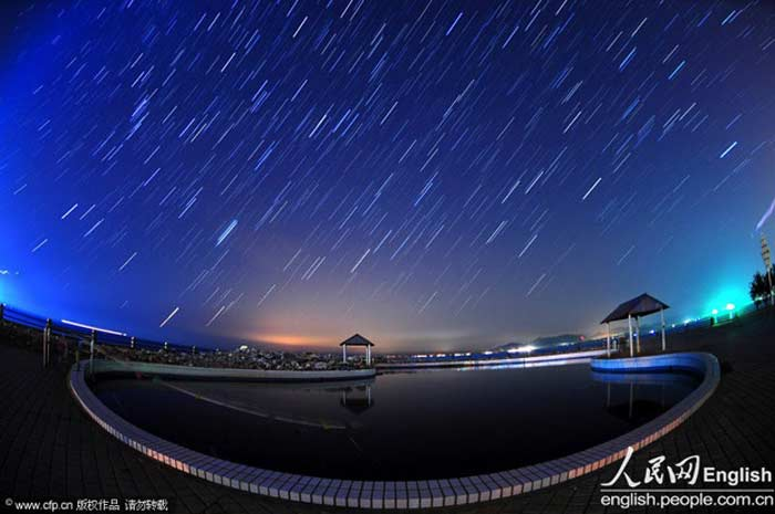 Метеоритный дождь в Китае