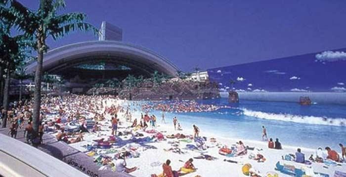 Самый большой аквапарк в мире - Ocean Dome (о. Кьюшу, Япония)