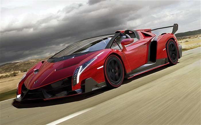 Самая дорогая машина - Lamborghini Veneno Roadster – 4,47 млн. дол. США