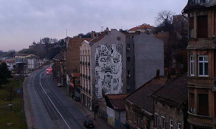 Граффити Белграда  Матерь богов
