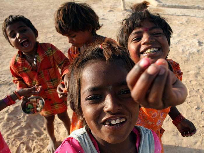 Попрошайки в Индии