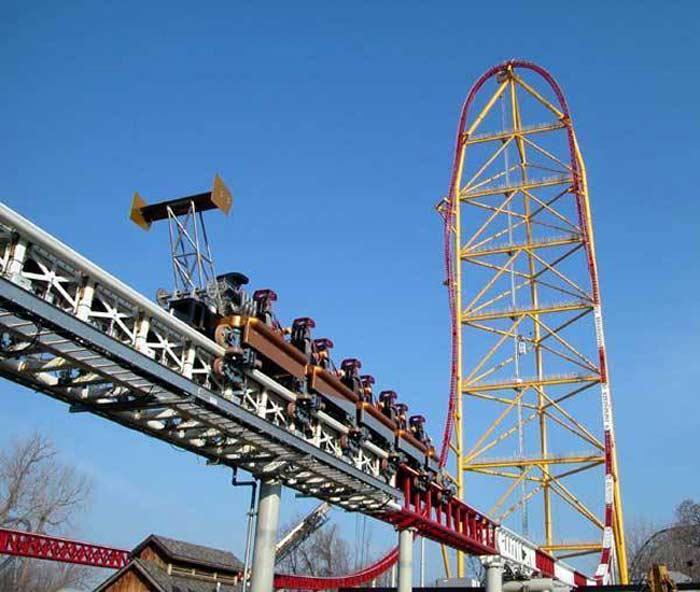 Top Thrill Dragster - самые высокие американские горки