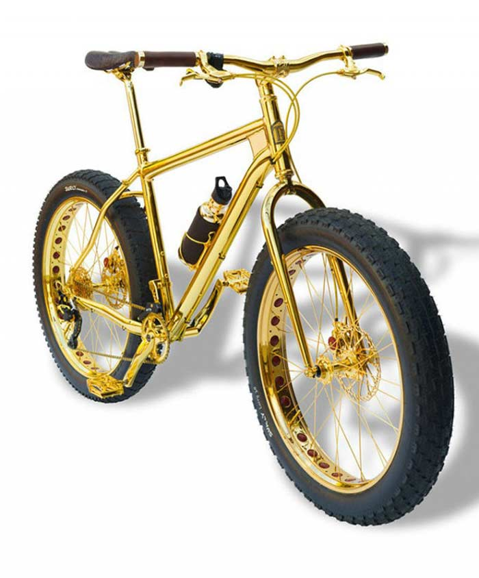 Gold Extreme Mountain Bike