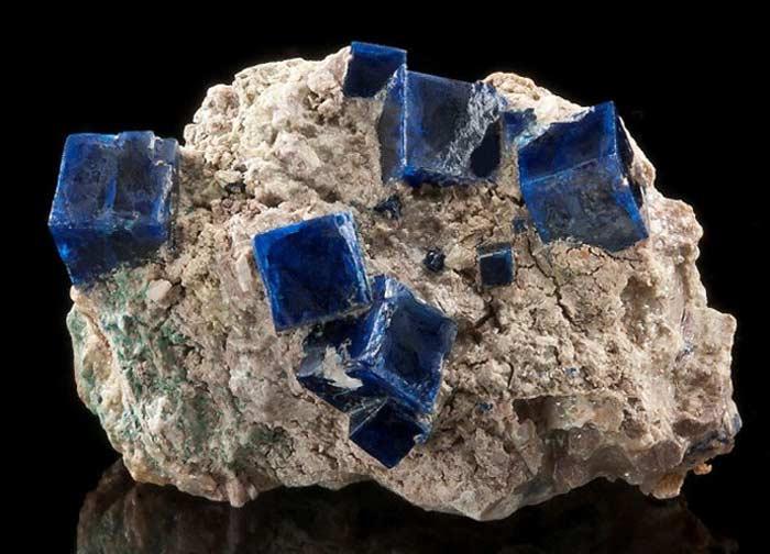 Синий галит и сильвит