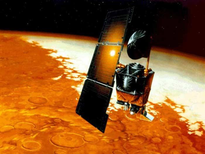 Топ 10 самых высокотехнологичных провалов. Спутник Mars Climate Observer