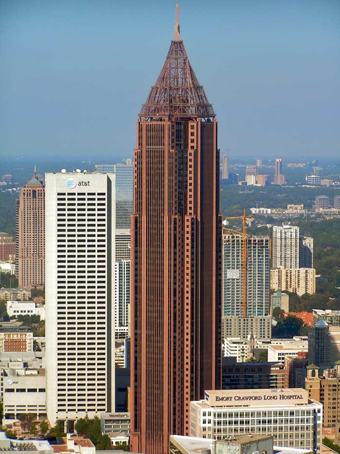 Самые высокие небоскребы. Bank of America Plaza