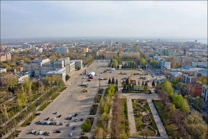 Самые большие площади России. Площадь Куйбышева