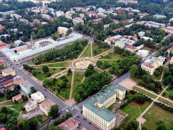 Самые большие площади России. Соборная площадь