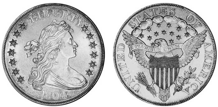 Монета Серебряный доллар 1804 г.