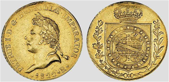 Бразильская золотая монета