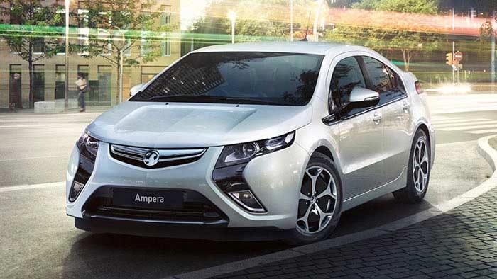 Топ 10 популярных электромобилей. Vauxhall Ampera