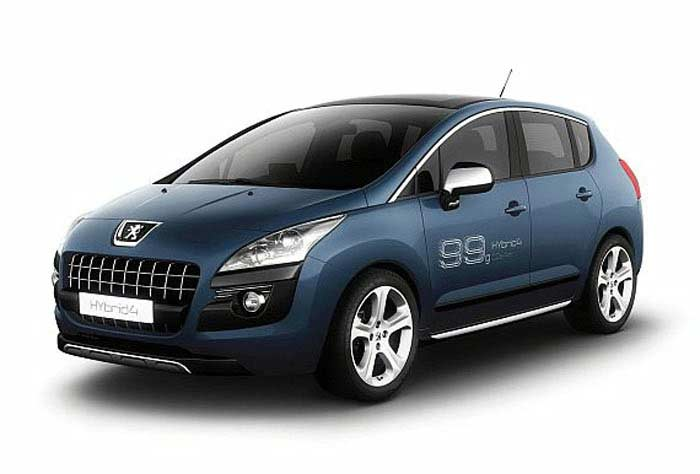 Топ 10 популярных электромобилей. Peugeot 3008 HYbrid4