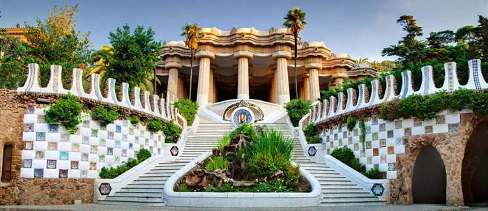 Парк Гуеля (Барселона, Испания)