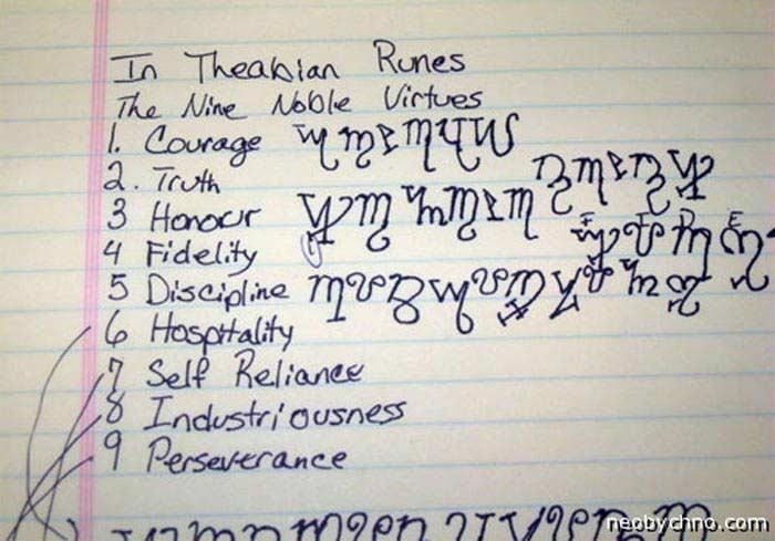 «Ведьмина азбука» Фивский алфавит