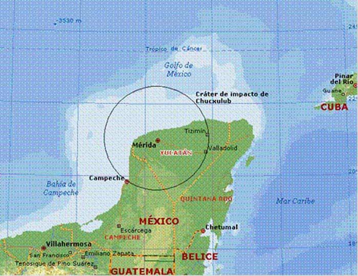 Кратер Чиксулуб (Мексика)